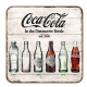 Coca Cola Bottle Evolution drinks mat / coaster   (na)